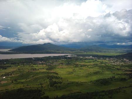 stirrup: Docks panoramic lake view from the hill Patzcuaro stirrup