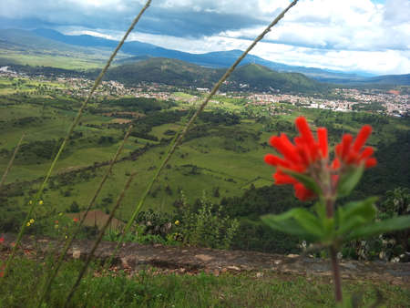 Patzcuaro Michoacan seen from the viewpoint of large stirrup