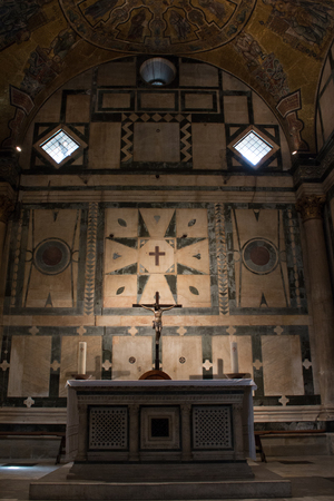 The Baptistery of St. John in Florence Editorial