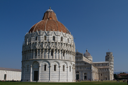 Leaning Tower of Pisa on a summer day Stock Photo