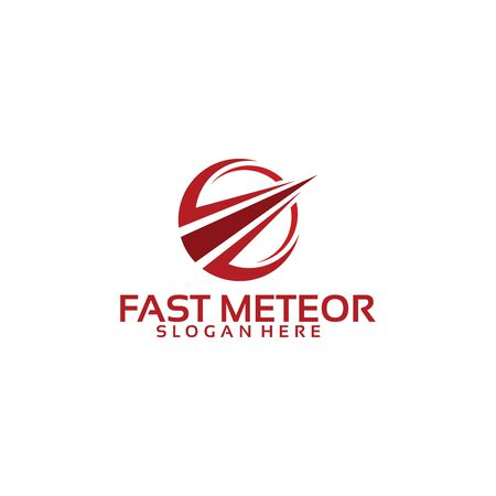 Fast Meteor Business logo template designs 向量圖像