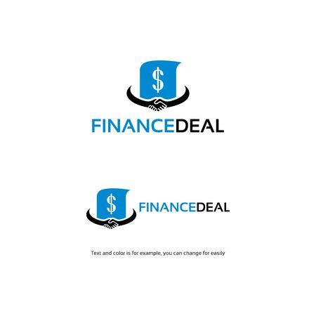 Modello di design del concetto di logo di affare finanziario