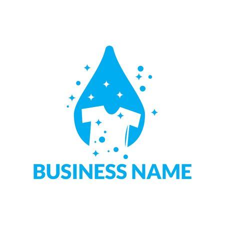 Modern Shirt laundry logo template vector illustration Logo