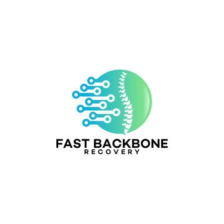 backbone treatment logo template designs, Fast Backbone Recovery technology logo