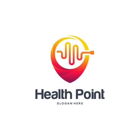 Health Point logo designs concept, Health Center logo template vector
