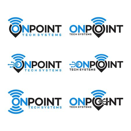 map pointer and logo combination. locator and signal symbol vector Illustration