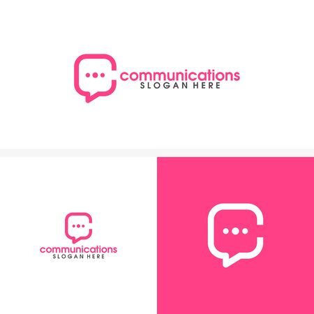 communications, chat, consult logo vector template
