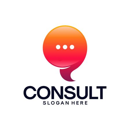 Modern Gradient Consulting Agency logo template designs, Simple Elegant Consult logo template Banque d'images - 137056692