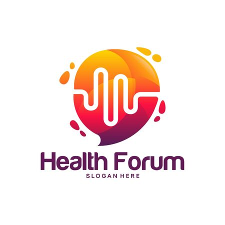 Health Consult logo designs concept, Health Forum logo template vector Banque d'images - 137056694