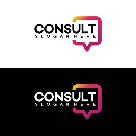 Modern Gradient Consulting agency logo template designs Banque d'images - 137056696