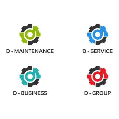 Set of Gear Logo designs Template Vector, Collection of Mechanic logo symbol, Logo symbol icon template