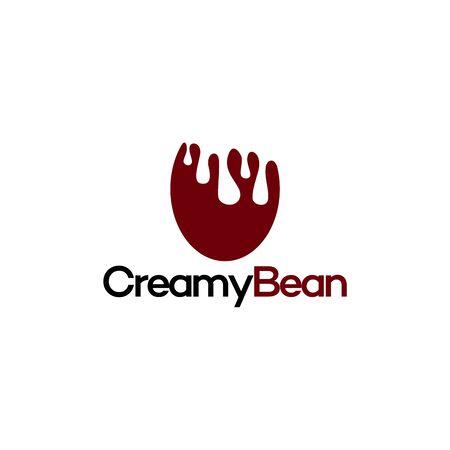 Creamy Bean Logo template design vector illustration