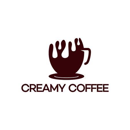 Creamy Coffee Logo, vector illustration
