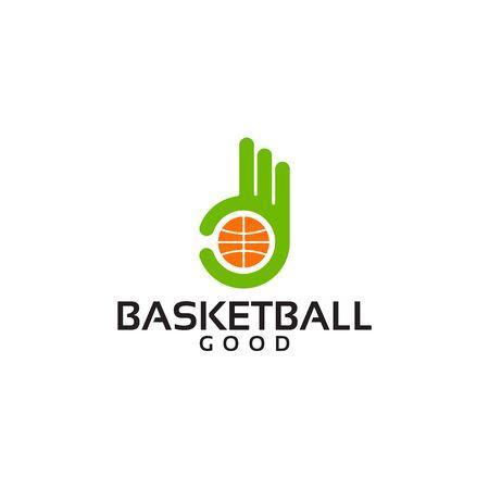 Best Basketball Logo Template with Hand Gesture vector illustration, basket logo