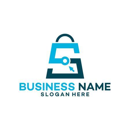 S Shopping Bag logo vector, Sales logo designs template, design concept, logo, logotype element for template
