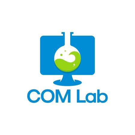 Computer Laboratory logo template, Science Computer logo designs vector Logo