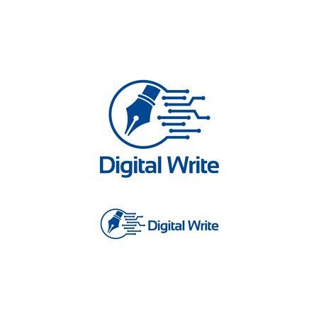 Digital Write logo template, Technology Creator Logo designs vector