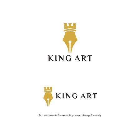 King of art logo, King Publish Design Logo Template. Vector Illustration