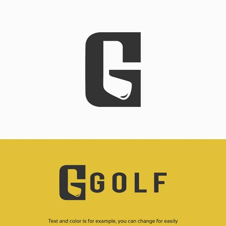 Simple and Luxury Golf G initial Logo Template Ilustrace