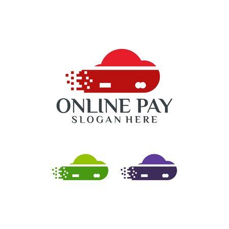 Online Payment Logo template designs vector illustration