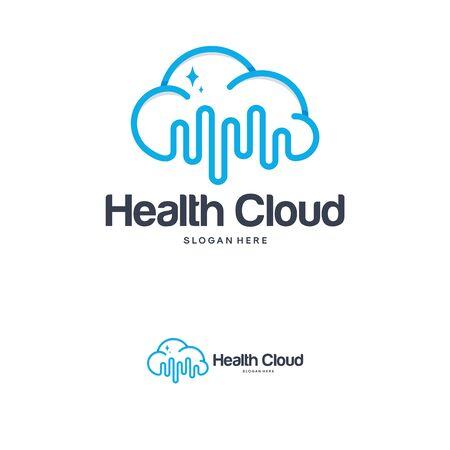Health Cloud Logo designs concept. Cloud Vibe logo template