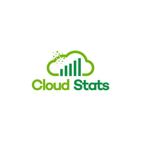 Online data logo vector illustration, Online Financial logo template
