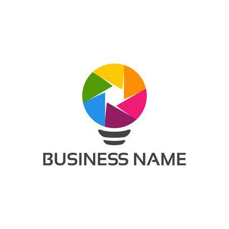 Photography Inspiration logo designs, Photo Idea logo designs vector