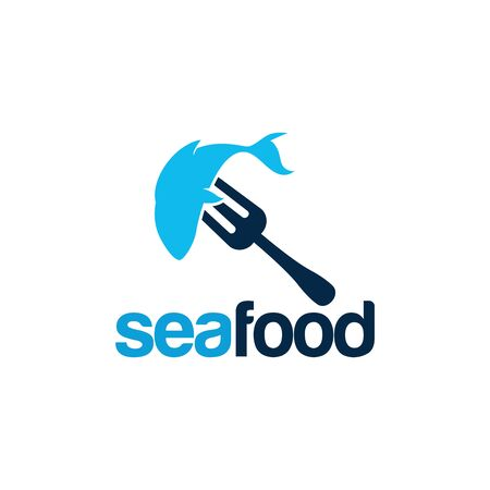 Modern Sea Food Logo template designs vector illustration