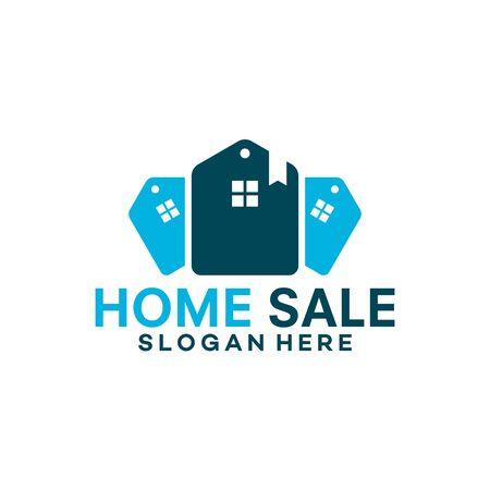 Real Estate logo, Home Sale logo template