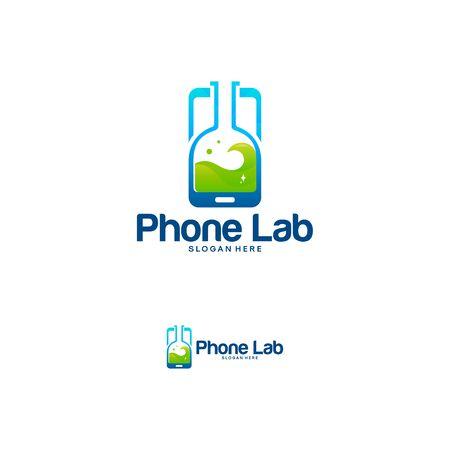 Phone Laboratory logo designs vector, Mobile Science logo template