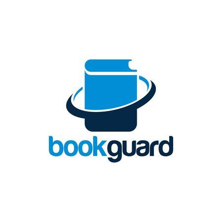 Book Guard Logo designs, Document Shield Logo template designs vector illustration