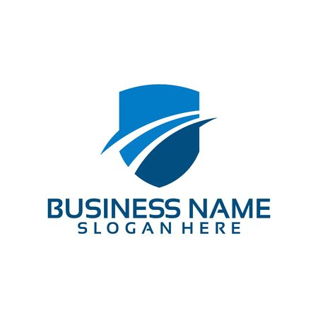 Flat Shield for business Logo template designs