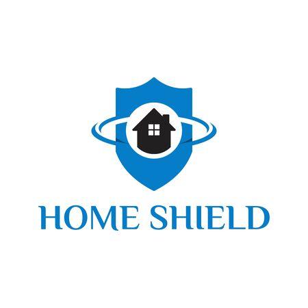 House Shield logo designs concept vector, Home protect logo template