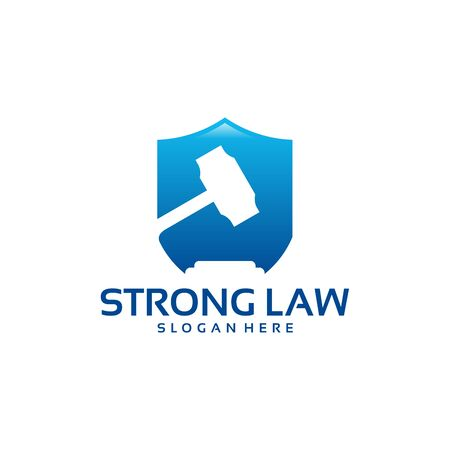 Strong law logo designs vector, Law Shield logo template