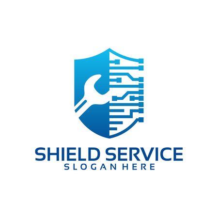 Strong Service logo template, Shield Service logo designs vector