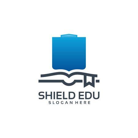 Strong Education logo, Education Shield logo designs vector