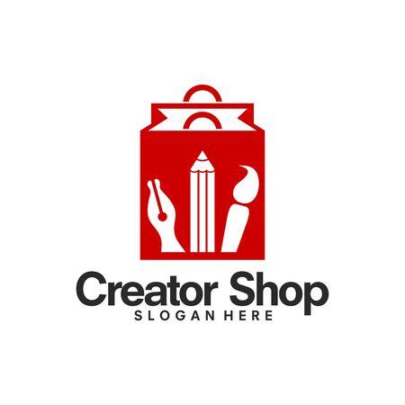 Creator Shop logo template vector, Creative Store Logo