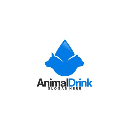 Animal Drink logo designs vector
