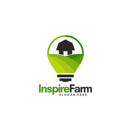 Inspire Farming logo template, Nature designs vector Stock Illustratie