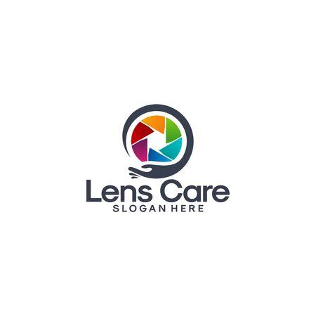 Lens Care logo designs vector, Colorful lens Care template