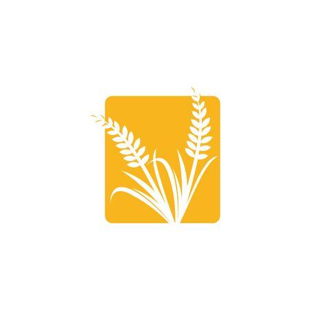 Wheat Iconic Logo designs template vector, Wheat Farm logo template Ilustrace