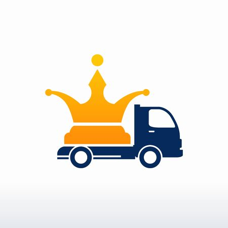 King Shipping logo designs vector, King Delivery logo, design concept, logo, logotype element for template Ilustrace