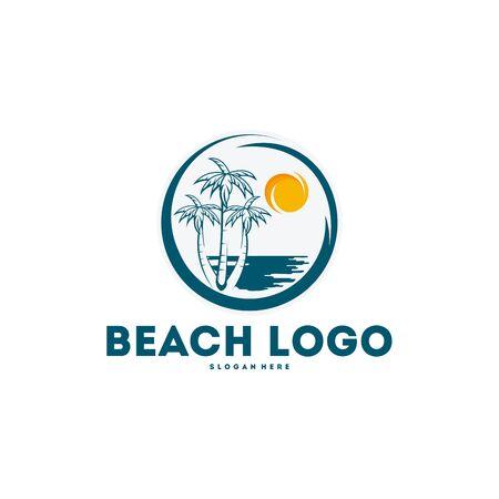 Summer Logo designs, Beach Logo designs concept vector