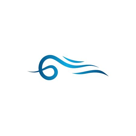 Water Wave symbol and icon Logo designs Template vector