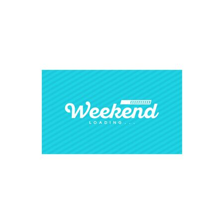Simple Weekend Loading wallpaper, greeting card and banner vector illustration