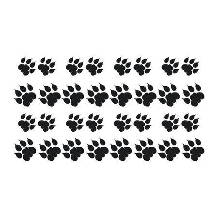 Tiger Walking Foot print designs, Lion Foot print Pattern Illusztráció