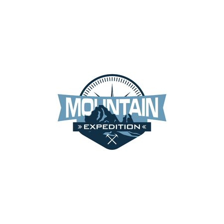 Abstract Mountain logo designs, Hiking logo designs