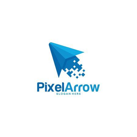 Pixel Arrow logo designs concept vector, Pixel Cursor logo designs template