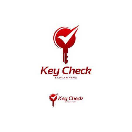 Key Check logo designs concept vector, Safe Lock logo template