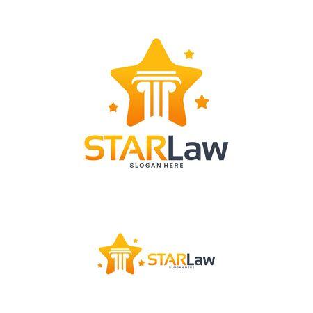 Star Law logo designs concept vector, Law Shiny logo template Illustration